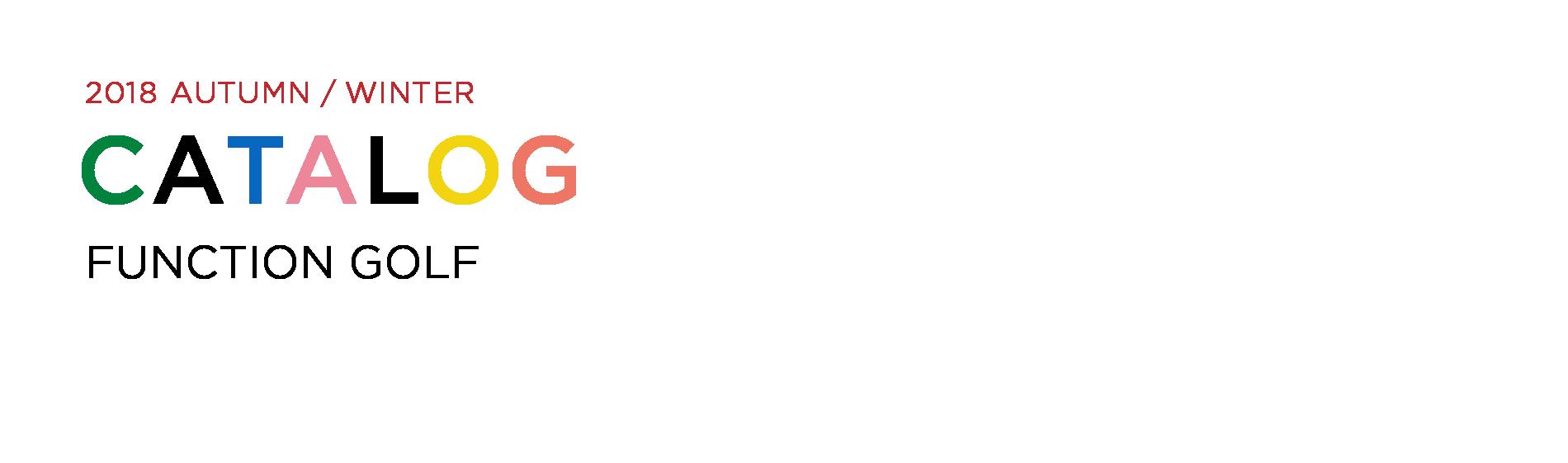 JUN&ROPE' 2018 AUTUMN WINTER CATALOG FUNCTION GOLF